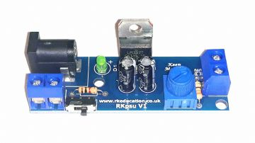 RkPSU v1 Single Output PSU for Model Railways - Built